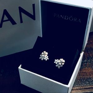 NWOT Authentic Pandora Poetic Bloom Earrings